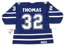 Мужские, женские, детские-STEVE THOMAS Toronto Maple Leafs 2001 CCM Vintage Mn Custom Any NameNo. Хоккей Персонализированные Кофта Goalit Кроя