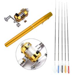Tragbare Tasche Teleskop Mini Angelrute Stiftform Gefaltet Angelrute Mit Rolle Rad