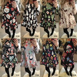 ladies tutu skirts NZ - 16 colors girls christmas dress santas x'mas tree stars deer snowman full printing lady holiday dress up women skirts
