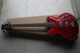 China free shipping New Top Quality jazz 335 red 4 strings electric bass guitar 1 2 suppliers