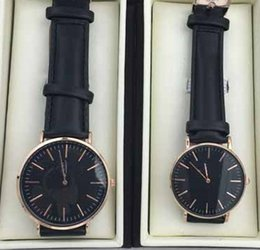 Wholesale Fashion Brand Watch Men Women leather d style mm rose gold black male Wristwatches Relogio Masculino for sale