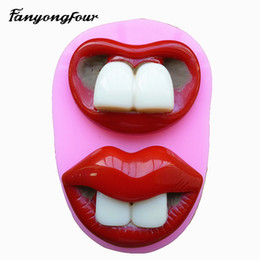 $enCountryForm.capitalKeyWord Canada - Lips Teeth Silicone Mold Cake Mold Chocolate Gypsum Candle Soap Candy Mold Kitchen Bake Free Shipping