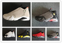 Pvc waterProof boxes online shopping - 14 XIV DESERT SAND men basketball shoes s BRED LAST SHOT Black Toe Candy Cane Sports Shoes sneakers women boots outdoor Athletics With box