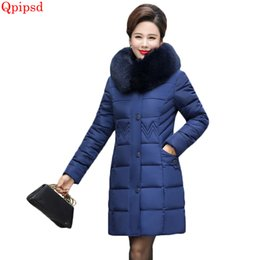 $enCountryForm.capitalKeyWord Canada - Plus size 5XL middle-aged cotton jacket coat female 2018 winter warm jacket womens big fur collar hooded down jacket ladies coat