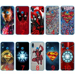 Discount pink hero brand - Super Funny Cool Hero SuperMan Soft Silicone TPU Phone Case for Huawei Honor 7A Pro 6A 7X 8 Lite 9 Lite 10 Cover