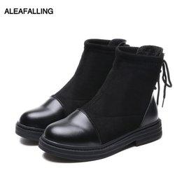 Aleafalling zapatos de mujer botas de nieve cálida con cordones Botas mujer mujer tobillo botas de nieve ropa de algodón señora zapatos espesar suela WBT306