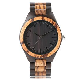 a4ffa939911 New Creative Zebra Full Wooden Watch Top Luxury Brand Mens Wood Japanese  Quartz Movement Montre Homme 2018 for Gifts