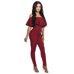 0a6b7ae199eb Wholesale-Fashion brand Rompers Womens Jumpsuit Summer Jumpsuits for Women  2017 Short Sleeve Ruffle Jumpsuit Female bodycon Overalls