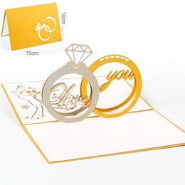 Paper Art Pop Up Cards Canada - 10pcs lot Custom Handmade Paper Art Carving Greeting&Gift Cards 3D Pop UP Card Laser Cut Party Invitations