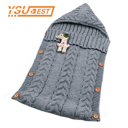 animal sleeping bags toddlers 2019 - 2018 Baby Winter Stroller Sleep Sack Newborn Toddler Hoody Sleeping Bags Autumn Wrap Warm Knitted Envelope for Infant Bo