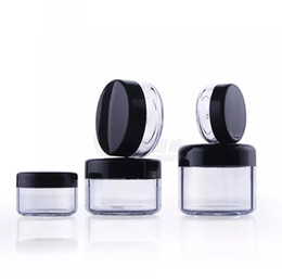 Personal decal online shopping - 3g g g g g plastic cosmetic container black Plastic cream jar Makeup Sample Jar Cosmetic Packaging Bottle