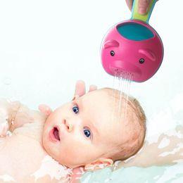 Baby Wash Hair Australia - New Suit Head Shape Baby Bath Cups Baby Shampoo Cup Children Bathe Bathing Bailer Shower Spoons Child Washing Hair Cup Kids