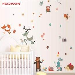 Bird Removable Wall Stickers Australia - Removable Small Animals Bird Owl Wall Stickers Bedroom Wall Stickers For Kids Rooms Baby Room Decor Wall Decals