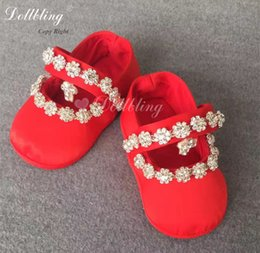Baby Shoes Red White Australia - Chinese Red Outfit Dress Match Baby Shoes Posh Luxury Sparkle Bling Unique Infant Baptism Crib Shoes Keepsake Free UK Delivery