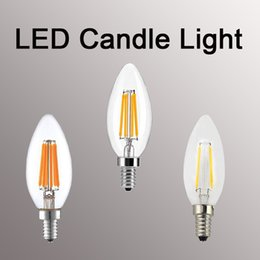 Candle light bulbs for Chandeliers online shopping - Led Bulb E27 Dimmable w w w w E14 Led Candle Light Bulb v v Vintage Filament Lamp For Chandelier Lighting