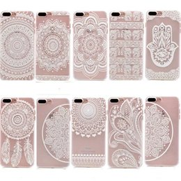 Iphone sIlIcone art cases online shopping - Art Floral Pattern Design Slim Clear Case With Soft TPU Bumper Hard PC Back Cover For iPhone X S Plus SE S Transparent Shell