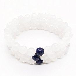 $enCountryForm.capitalKeyWord UK - 10mm White Jade Bracelet,Gemstone Bracelet,Lapis Lazuli Round Beads,Elastic Bracelet,Good Luck Bracelet