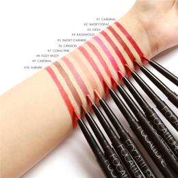 $enCountryForm.capitalKeyWord NZ - FOCALLURE Brand Pigments Waterproof Makeup Lipliner Pencils Cosmetics Sexy Red Brown Lipstick Pencils Nude Matte Lip Liner Pen