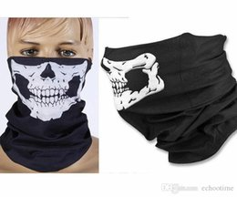 skull half face mask bandana NZ - 300pcs Skull Design Multi Function Bandana Ski Sport Motorcycle Biker Scarf Face Masks Outdoor Facial Mask Black Color