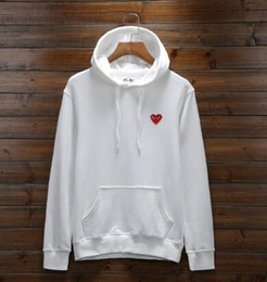 Wholesale The best selling new fashion brand PLAY CDG Mona Lisa printed cotton men s sweater women s slim white hoodie xs xl