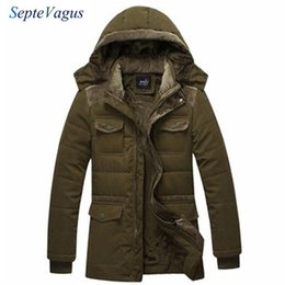 mens military parka Australia - Winter Jacket Mens Fashion Casual Thick Warm Cotton Coat Hooded Trench Coat Men's Outwear Parka Windbreak Snow Military Jackets