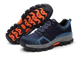 9957be6d45 Novos 2018 Homens Botas Sapatos de Segurança do Trabalho de Aço Toe Cap  Anti-Esmagamento