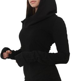 Discount hottest sweatshirts - 2018 New Hot Women Hooded Ladies Fashion Hoodies Pullover Tunic Long Hoody Sweatshirt Solid Colour Long Sleeve SS096