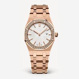 2018 новая мода стиль Женщины часы леди с большим циферблатом розовое золото бриллиантовый Стальной браслет роскошные часы высокое качество relogies для женщин
