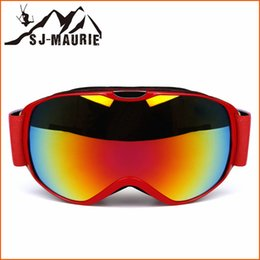 Girls Ski Goggles Australia - SJ-Maurie 10 Colors Ski Glasses Kids Windproof Ski Goggles Climbing Anti-fog Mask Glasses Skiing Girls Boys Snowboard Goggles