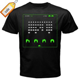$enCountryForm.capitalKeyWord Australia - Space Invaders 2 old school classic arcade game T-Shirt Black Basic Tee Band Logo Tee Shirt For Men