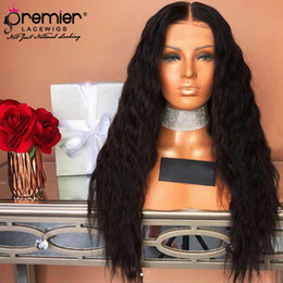 $enCountryForm.capitalKeyWord Australia - Premier 360 Lace Wigs Indian Remy Hair Natural Wave Pre-plucked Bleached Knots 150% Density 4.5Inches Deep Parting Human Lace Wigs