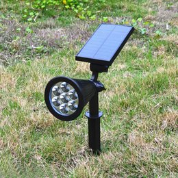 7 LED Solar Spotlight Outdoor Flood Lights Garden Yard Lawn Wall Lamp Waterproof