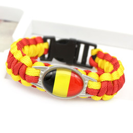 $enCountryForm.capitalKeyWord Canada - 10 Style Flag Colorful 25 *18mm Glass Cabochon Outdoor Survival Paracord Charm Bracelets Men Women Jewelry 5 (1 )