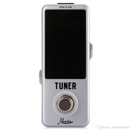 display tuner 2018 - Rowin Mini Chromatic Guitar Tuner Pedal Effect True Bypass LED Display for Guitar Bass High Quality Guitar Parts & Acces