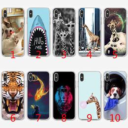 $enCountryForm.capitalKeyWord NZ - Giraffe cute animal dog Soft Silicone TPU Case for iPhone X XS Max XR 8 7 Plus 6 6s Plus 5 5s SE Cover