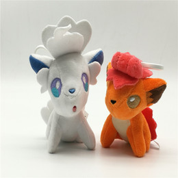 Chinese  11cm Cute Stuffed Animals Vulpix Doll For Kid Anime Collectible Toy Soft Plush Figures Pendant Charm Christmas Gifts 7km YY manufacturers