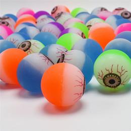 Renkli Çocuklar 30mm Kabarık Topları göz küresi desen mini zıplayan oyuncaklar satış promosyonu çocuk ucuz hediyeler bükülmüş yumurta Kapsül Oyuncaklar hediyeler