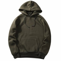 good quality sweatshirts UK - Brand Hip Hop Hoodies Coat Solid Autumn Spring Outerwear Good Quality Men Hoodie Sweatshirt Pullover Fashion Sportswear