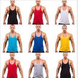 $enCountryForm.capitalKeyWord Canada - Summer Style Gyms undershirt Singlets outdoor gym Mens Tank Tops Shirt Bodybuilding Fitness Men's vest Golds Stringer Tank Top European