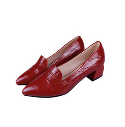 69cd0a4bd898 Women s shoes high heels autumn 2018 new thick with pointed wild  temperament shallow mouth single shoes female patent leather