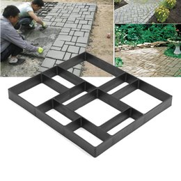 ce069c0803a2 Garden Stone Road Concrete Pavement Mold DIY Plastic Path Maker Mold  Manually Paving Cement Brick Molds 45x40x4cm