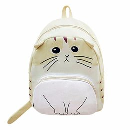 China 3D Cat Printing Backpack Women Bag Canvas Large Capacity Backpack Female School Bag Mochila for Adolescent Girls suppliers