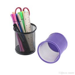 1 Pcs High Quality 5 Colors Office Organizer Round Cosmetic Pencil Pen Holders Stationery Container Office Supplies Factory Direct Selling Price Office & School Supplies