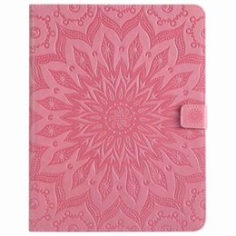 China Wallet Leather UK - Mandala Flower Sleep Wake UP Flip Wallet Stand PU Leather case for ipad Mini 123 4 New ipad 9.7 2017 2018 234 Air 1 2 Samsung Tablet