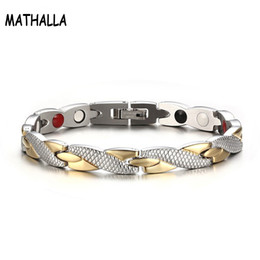 $enCountryForm.capitalKeyWord NZ - Trendy Healthy Stainless Steel Magnetic Bracelet Energy Balance Health Elements Germanium Magnetic Therapy Jewelry