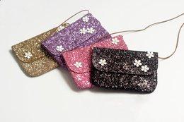 Цветок блесток девушки сумка мода новые женщины сумка милый студент девушка плеча скинул мешок мобильного телефона