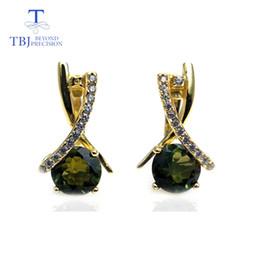 Natural Black Tourmaline Green Chrome 925 Sterling Silver Earrings Handmade Uk Jewellery & Watches