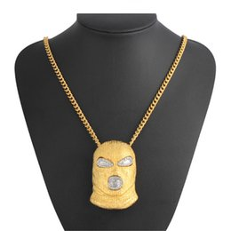 Chain Counter Australia - 2018 NEW Counter terrorism Headgear pendant necklaces for Hip Hop men engagement jewelry Gold Color Fashion Birthday Gift