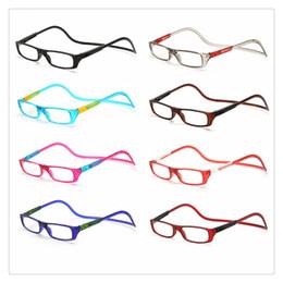 Vente en gros Lunettes de lecture en plein air lunettes de lecture magnétiques réglables pendaison cou lunettes de presbytie unisexe hommes femmes Clear coloré verre de haute qualité