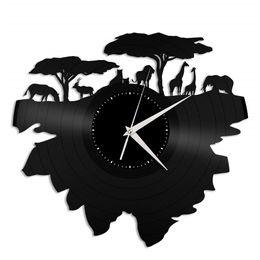 $enCountryForm.capitalKeyWord UK - Wild animals vinyl record wall clock modern home decor light wall art kitchen bedroom living room decorations christmas personalized gifts